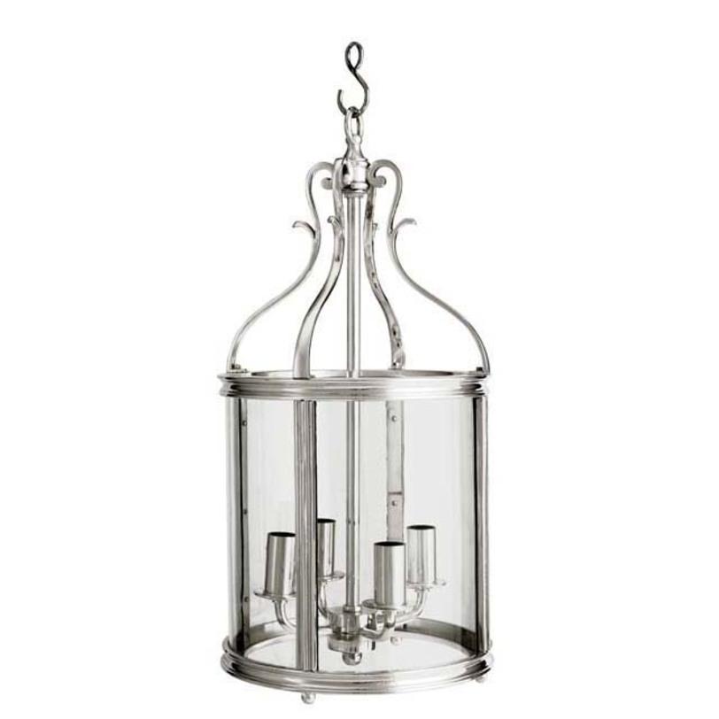 Подвесная люстра Lantern Princess GraciaЛюстры подвесные<br>Подвесной светильник из стекла и металла. Цвет металла - блестящее серебро. Высота подвеса регулируется.<br><br>Количество лампочек: 4<br>Мощность: 4 x 40 Вт<br>Тип лампы: E14<br><br>Material: Металл<br>Length см: None<br>Width см: 26<br>Depth см: 26<br>Height см: 52