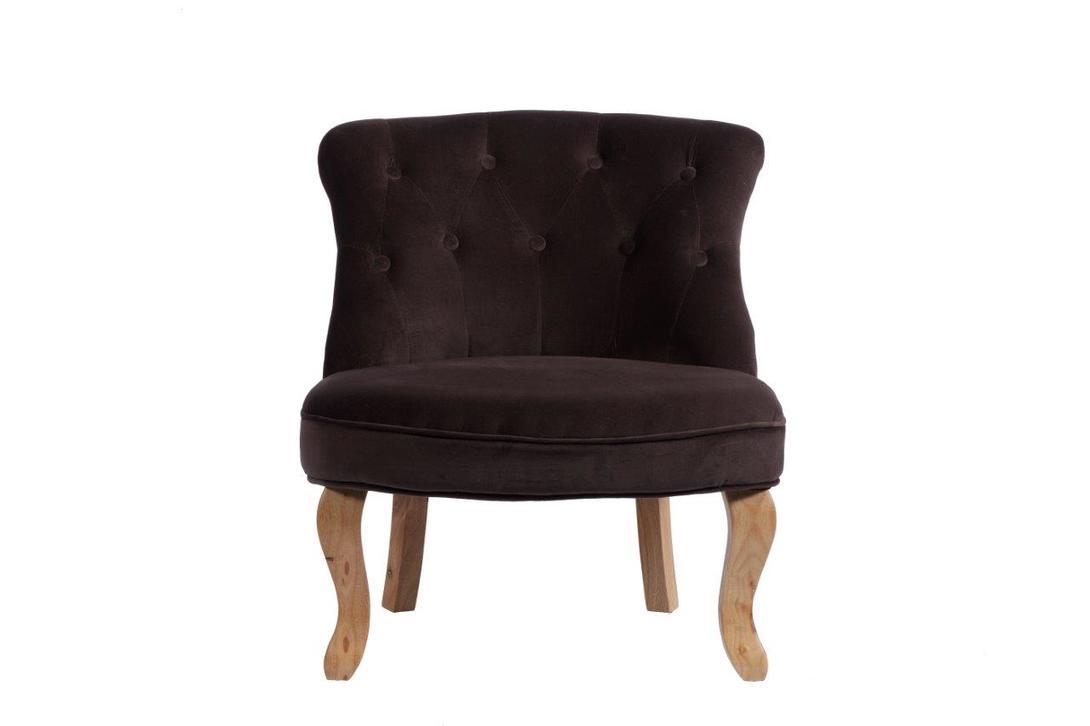 Кресло Robelli BrownКресла с высокой спинкой<br>Низкое кресло Robelli Brown обтянуто мягкой темной тканью с легким винным оттенком и декорировано пуговицами в технике капитоне. Удивительно, как в одном предмете мебели сошлись два разных стиля: вековая классика с роскошной оббивкой и современный, выраженный в простых деревянных ножках и полном отсутствии лишних деталей.&amp;lt;br&amp;gt;&amp;lt;br&amp;gt;<br><br>Material: Текстиль<br>Length см: None<br>Width см: 63<br>Depth см: 68<br>Height см: 70<br>Diameter см: None