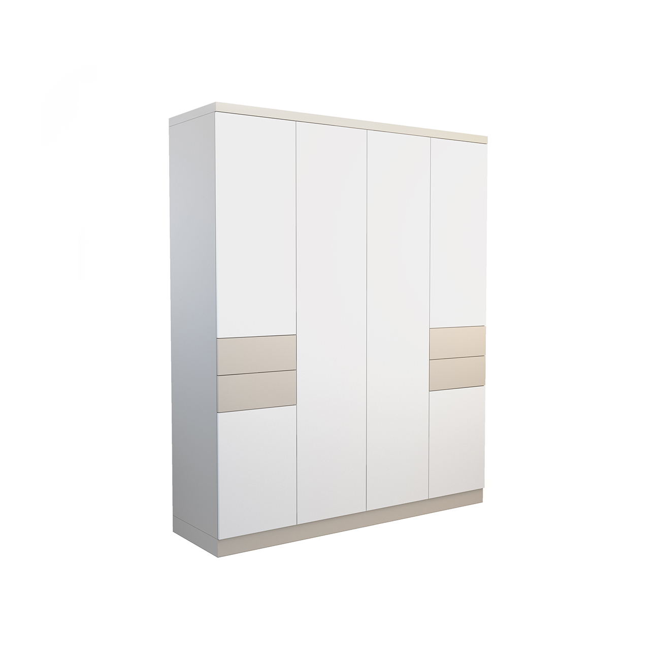 Шкаф galata soft (olhause) серый 200x240x60 см.