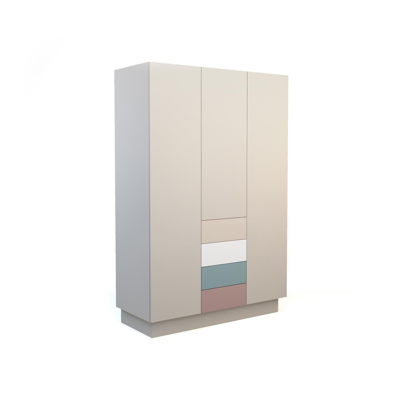 Шкаф galata soft (olhause) серый 150x225x60 см.