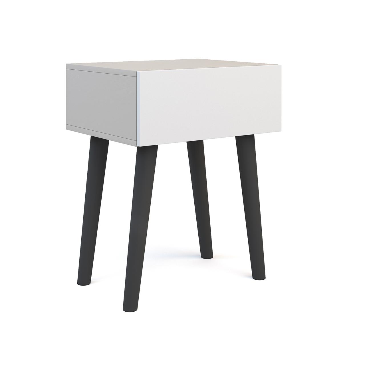 Прикроватная тумба galata soft light (olhause) серый 50x60x40 см.