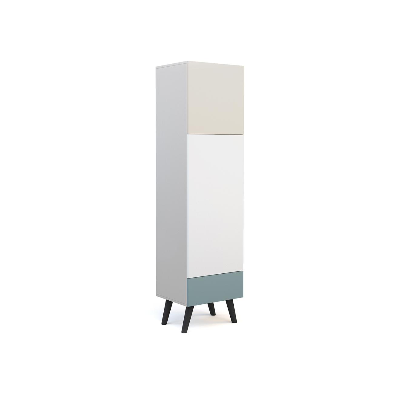 Шкаф galata soft (olhause) серый 50x190x40 см.