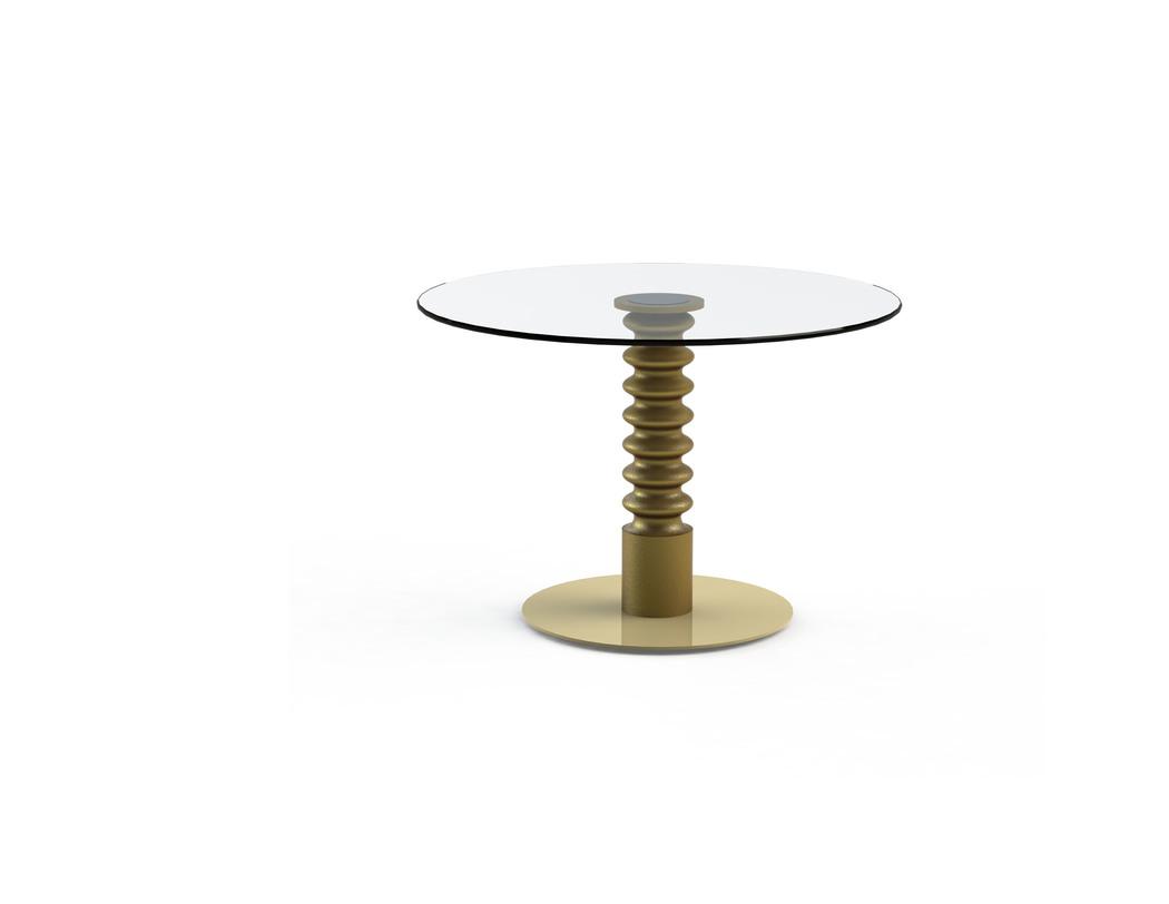 Стол Pilmer GoldВинные, коктейльные столики<br>Эклектичный столик &amp;quot;Pilmer Gold&amp;quot; будет превосходно смотреться в любой гостиной. В спокойно оформленной комнате он станет ярким акцентом. Экспрессивный интерьер сделает гармоничным и целостным. Интересный силуэт золотистой ножки заворожит ценителей нестандартных форм.&amp;lt;div&amp;gt;&amp;lt;br&amp;gt;&amp;lt;/div&amp;gt;&amp;lt;div&amp;gt;Столешница из закаленного стекла, металлическое основание покрашенное, деревянная ножка. &amp;amp;nbsp;&amp;amp;nbsp;&amp;lt;/div&amp;gt;&amp;lt;div&amp;gt;Цвет: золото. Срок изготовления: 2-3 недели.&amp;amp;nbsp;&amp;lt;/div&amp;gt;&amp;lt;div&amp;gt;Размер столешницы: диаметр 800 мм; толщина 10 мм. Мы можем предложить любой вариант столешницы в меньшую сторону d700, d600 и т. д.&amp;lt;/div&amp;gt;<br><br>Material: Стекло<br>Length см: None<br>Width см: None<br>Depth см: None<br>Height см: 75<br>Diameter см: 80