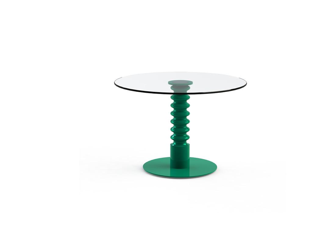 Стол Pilmer GreenВинные, коктейльные столики<br>Эклектичный столик &amp;quot;Pilmer Green&amp;quot; будет превосходно смотреться в любой гостиной. В спокойно оформленной комнате он станет ярким акцентом. Экспрессивный интерьер он сделает гармоничным и целостным. Интересный силуэт глянцевой зеленой ножки заворожит ценителей нестандартных форм.&amp;amp;nbsp;&amp;amp;nbsp;&amp;lt;div&amp;gt;&amp;lt;br&amp;gt;&amp;lt;/div&amp;gt;&amp;lt;div&amp;gt;Столешница из закаленного стекла, металлическое основание покрашенное, деревянная ножка. &amp;amp;nbsp;&amp;lt;/div&amp;gt;&amp;lt;div&amp;gt;Цвет: зеленый. Срок изготовления: 2-3 недели.&amp;lt;/div&amp;gt;&amp;lt;div&amp;gt;Размер столешницы: диаметр 800 мм; толщина 10 мм. Мы можем предложить любой вариант столешницы в меньшую сторону d700, d600 и т. д.&amp;lt;/div&amp;gt;<br><br>Material: Стекло<br>Length см: None<br>Width см: None<br>Depth см: None<br>Height см: 75<br>Diameter см: 80