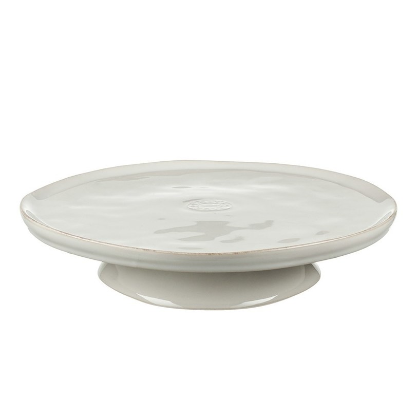 Блюдо на ножкеДекоративные блюда<br>Материал: керамика<br>Цвет: белый<br>Объем: 26 см<br><br>Material: Керамика