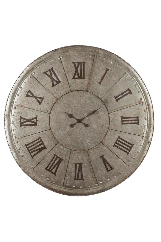 Часы настенныеНастенные часы<br>Цвет: серый<br>Материал: металл оцинкованный<br><br>Material: Металл
