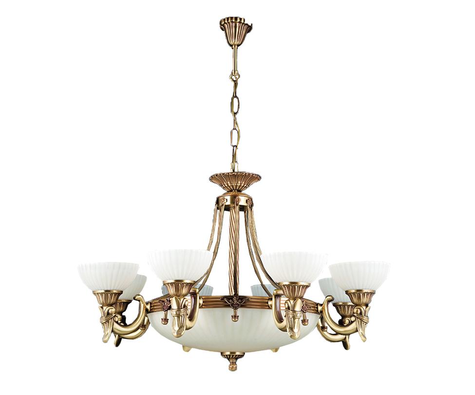 """Люстра Жасмин 8+4Люстры подвесные<br>Люстра """"Жасмин"""" от турецких дизайнеров на 12 светильников отлично подойдет для офомления интерьера в просторном светлом помещении, например, на веранде или кухне-столовой в загородном доме.<br><br>Материал: латунь<br>Количество ламп:12 шт.<br>Цоколь:Е27 (60Вт)<br><br>Material: Металл<br>Length см: None<br>Width см: None<br>Depth см: None<br>Height см: 92.0<br>Diameter см: 105.0"""