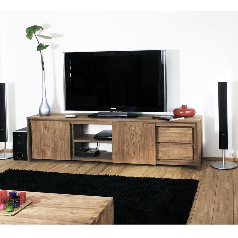 Тумба под TV Fisa 220Тумбы под TV<br>Тумба под TV из массива тика, вместительные ящики, раздвижные двери из антикварного дерева.<br><br>Material: Тик<br>Length см: 220<br>Width см: None<br>Depth см: 45<br>Height см: 60<br>Diameter см: None