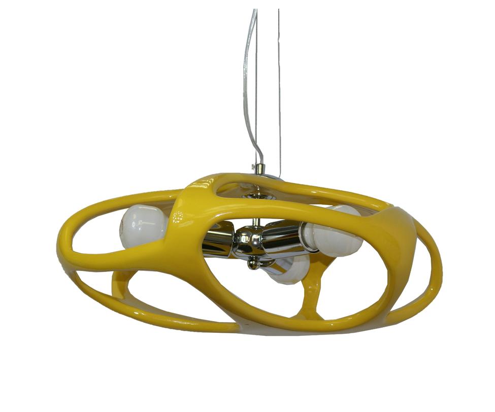Подвесной светильник ТимошаПодвесные светильники<br>Количество ламп: 3*60w (лампами не комплектуется)<br>Цоколь: E27<br><br>Цвет: желтый<br><br>Material: Пластик<br>Length см: None<br>Width см: None<br>Depth см: None<br>Height см: 120<br>Diameter см: 45