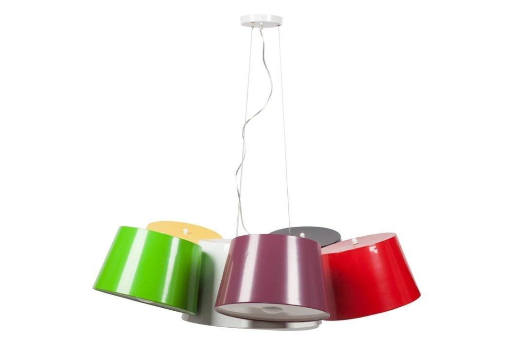 Подвесной светильник ElvitaПодвесные светильники<br>Материал: основание - сталь, плафон - алюминий<br>Цвет: кофейный, белый, черный, зеленый, фиолетовый, желтый<br>Количество ламп: 9 (в комплект не входят)<br>Цоколь: Е14 ,<br>Мощность: 60 ватт<br>длина подвеса регулируется, до плафона 75 см, вместе с плафоном 100 см.<br><br>Material: Алюминий<br>Length см: 116<br>Width см: 116<br>Depth см: None<br>Height см: 30<br>Diameter см: None