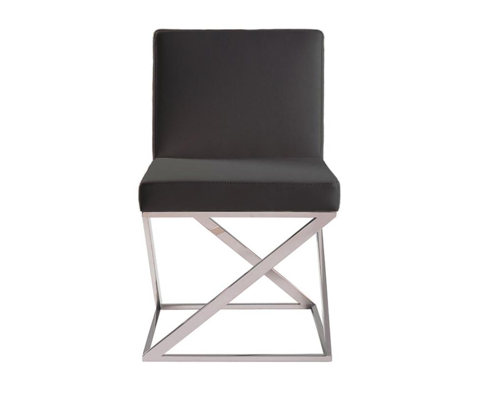 Стул Storm BlackОбеденные стулья<br>Материал: натуральная кожа, поролон, металлический каркас, ножки из нержавеющей стали<br><br>Material: Кожа<br>Length см: 56<br>Width см: None<br>Depth см: 49<br>Height см: 82<br>Diameter см: None