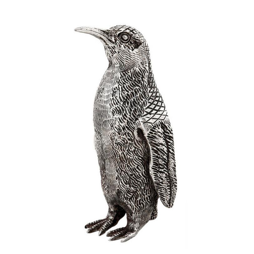 Статуэтка PenguinСтатуэтки<br>Предмет интерьера в виде статуэтки пингвина изготовлен из металла с отделкой под старинное серебро.<br><br>Material: Металл<br>Length см: None<br>Width см: 9<br>Depth см: 8<br>Height см: 17<br>Diameter см: None