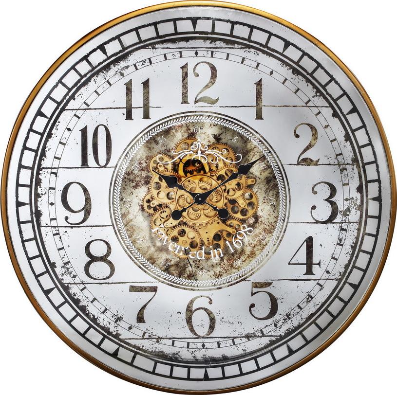 Часы настенныеНастенные часы<br>Часы настенные металлические со стеклом, цвет серый с патиной<br><br>Материал - металл, стекло<br><br>Material: Металл<br>Length см: None<br>Width см: None<br>Depth см: 10<br>Height см: None<br>Diameter см: 82