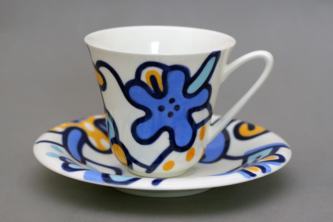 Чайная Чашка с блюдцем Сад