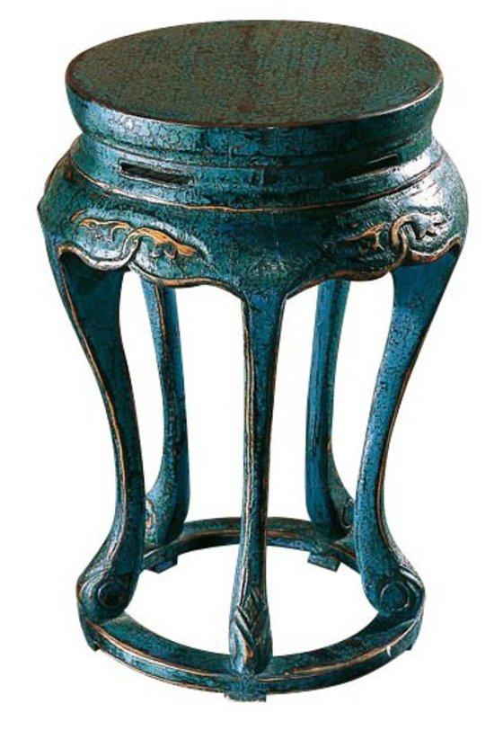 Столик Юань- дэнПриставные столики<br>Юань- дэн –круглый столик. Династия Мин. Такая форма была популярна в период правления династии Мин. Круглая форма предполагала концепцию округлости и целостности, которая вносила гармонию в быт китайцев.<br><br>Материал: тополь, вязь, береза<br>Цвет: синий кракелюр<br><br>Material: Дерево<br>Length см: None<br>Width см: None<br>Depth см: None<br>Height см: 55<br>Diameter см: 36
