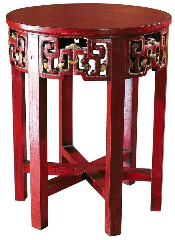 Столик Дайбяо-хуаКофейные столики<br>&amp;quot;Дайбяо-хуа&amp;quot; ? колоритный столик, который создан по образам стариной мебели, во времена правления династии Цин украшавшей собой буддистские храмы. Силуэт стремится к симметрии и гармонии, выраженной даже в слаженной геометрии одинаковых индийских орнаментов. Такой стол не просто станет ярким акцентом любого этнического интерьера&amp;amp;nbsp;?&amp;amp;nbsp;&amp;amp;nbsp;он позволит вашему дизайну достигнуть нирваны, открывавшейся только лучшим буддистским монахам.&amp;lt;div&amp;gt;&amp;lt;br&amp;gt;&amp;lt;/div&amp;gt;&amp;lt;div&amp;gt;Материал: тополь, вязь, береза.&amp;lt;/div&amp;gt;&amp;lt;div&amp;gt;Цвет: красный, золотая роспись.&amp;lt;/div&amp;gt;<br><br>Material: Дерево<br>Length см: None<br>Width см: None<br>Depth см: None<br>Height см: 80<br>Diameter см: 60