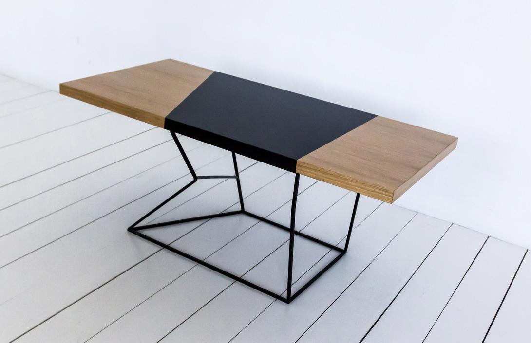 стол журнальный Pluto Uniquely коричневый дерево 60x50 см 22993