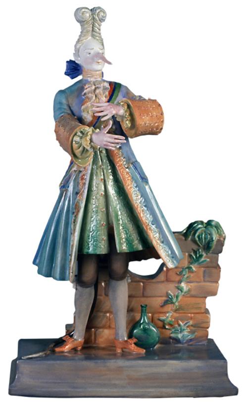 Скульптура Крыс Аристократ Скульптуры<br>Скульптура &amp;quot;Крыс-аристократ&amp;quot; создана при сотрудничестве Михаила Шемякина и Императорского фарфорового завода в рамках спецпроекта. Фарфоровое произведение входит в коллекцию созданных Шемякиным скульптур, которые посвящены персонажам балета &amp;quot;Щелкунчик&amp;quot;, поставленного в Мариинском театре в Петербурге. Скульптура отлита вручную, все малейшие детали искусно проработаны. Ручная надглазурная роспись.<br><br>Изделия Императорского фарфорового завода, основанного в 1744 году в Санкт-Петербурге, украшали императорские дворцы и преподносились в дар королевским особам. Гармоничное сочетание классических форм с изысканной филигранной росписью придает изделиям поистине драгоценный вид и ставит их в разряд коллекционного фарфора.<br><br>Material: Фарфор<br>Height см: 22.2