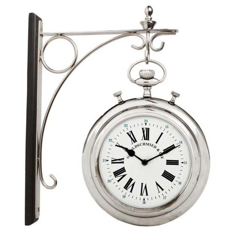 Часы Clock Goldschmied StationНастенные часы<br>Цвет металла - никель.<br><br>Material: Металл<br>Length см: None<br>Width см: None<br>Depth см: None<br>Height см: None<br>Diameter см: 28