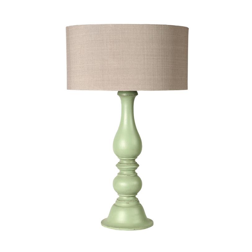 Настольная лампаДекоративные лампы<br>Настольная лампа озарит пространство вашей спальни или кабинета не только светом, но и уютом. Благодаря простому, но очень романтичному оформлению в стиле прованс, она привнесет в пространство больше домашней теплоты. Мягкий зеленый цвет изогнутой деревянной ножки будет смотреться очень свежо в интерьере.&amp;lt;div&amp;gt;&amp;lt;br&amp;gt;&amp;lt;/div&amp;gt;&amp;lt;div&amp;gt;Тамариндовое дерево, ткань&amp;amp;nbsp;&amp;lt;/div&amp;gt;&amp;lt;div&amp;gt;Цоколь: Е14,&amp;amp;nbsp;&amp;lt;/div&amp;gt;&amp;lt;div&amp;gt;Мощность: 40Вт&amp;lt;/div&amp;gt;&amp;lt;div&amp;gt;Количество ламп: 1&amp;lt;/div&amp;gt;<br><br>Material: Дерево<br>Length см: None<br>Width см: None<br>Depth см: None<br>Height см: 80<br>Diameter см: 40