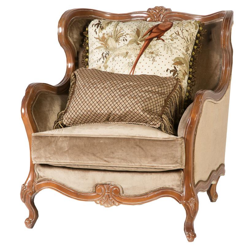КреслоИнтерьерные кресла<br>&amp;lt;div&amp;gt;Необыкновенное роскошное кресло в истинно английском стиле. Обивка выполнена из велюра с мягким ворсом, как и чехол массивной подушки-сиденья. Невысокие резные ножки и элементы каркаса выточены из массива древесины ценных пород и покрыты глянцевым лаком.&amp;lt;/div&amp;gt;&amp;lt;div&amp;gt;&amp;lt;br&amp;gt;&amp;lt;/div&amp;gt;<br><br>Material: Велюр<br>Length см: 90<br>Width см: 90<br>Depth см: None<br>Height см: 100<br>Diameter см: None