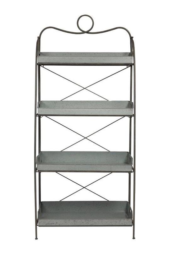 Этажерка TilzerСтеллажи и этажерки<br>Материал: никелированная сталь<br><br>Material: Сталь<br>Ширина см: 33<br>Высота см: 167