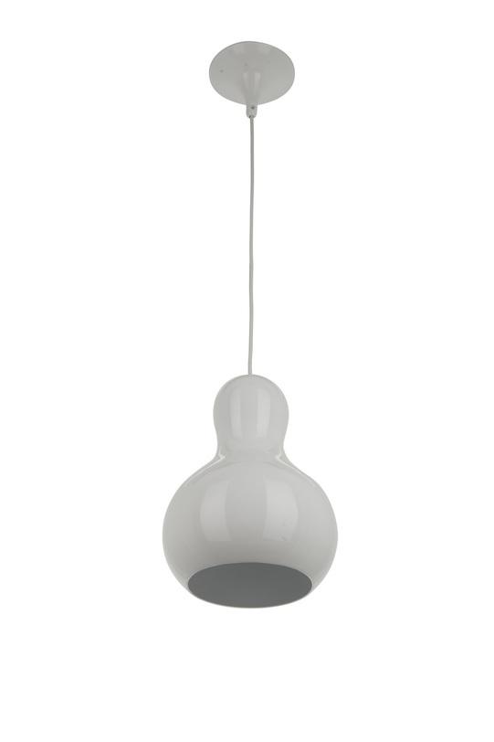Подвесной светильникПодвесные светильники<br>Металлическое основание, металлический плафон, мягкий подвес<br>Высота (max) 190 см.<br>Патрон E27, мощность max 1 х 9W (энергосберегающая лампа)<br><br>Material: Металл<br>Length см: None<br>Width см: None<br>Depth см: None<br>Height см: 30<br>Diameter см: 22,5
