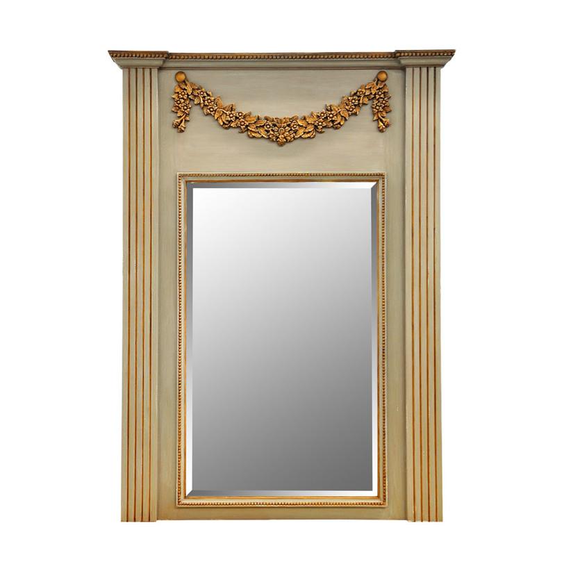 Зеркало AmberНапольные зеркала<br>Зеркало &amp;quot;Amber&amp;quot; будет озарять небанальной романтикой гранжа спальню, прихожую или будуар. Выполненное из натурального дерева, обработанного вручную, оно подчеркнет очарование стиля лофт. Золотистые детали и великолепный резной венок, украшающий верхнюю часть зеркала, будут смотреться очень элегантно и привносить в облик напольного декора благородство.&amp;amp;nbsp;<br><br>Material: Дерево<br>Length см: None<br>Width см: None<br>Depth см: None<br>Height см: None<br>Diameter см: None