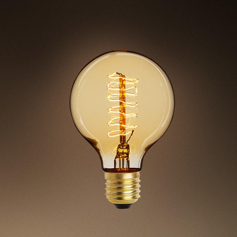 Лампочка Bulb GlobeЛампочки<br>Цвет цоколя - античное золото. Лампочки с приятным бежево-золотым свечением.&amp;amp;nbsp;&amp;lt;div&amp;gt;Мощность: 1x 40 Вт<br>Тип лампы: НАКАЛИВАНИЯ, E27&amp;lt;/div&amp;gt;<br><br>Material: Стекло<br>Length см: None<br>Width см: None<br>Depth см: None<br>Height см: 12<br>Diameter см: 8
