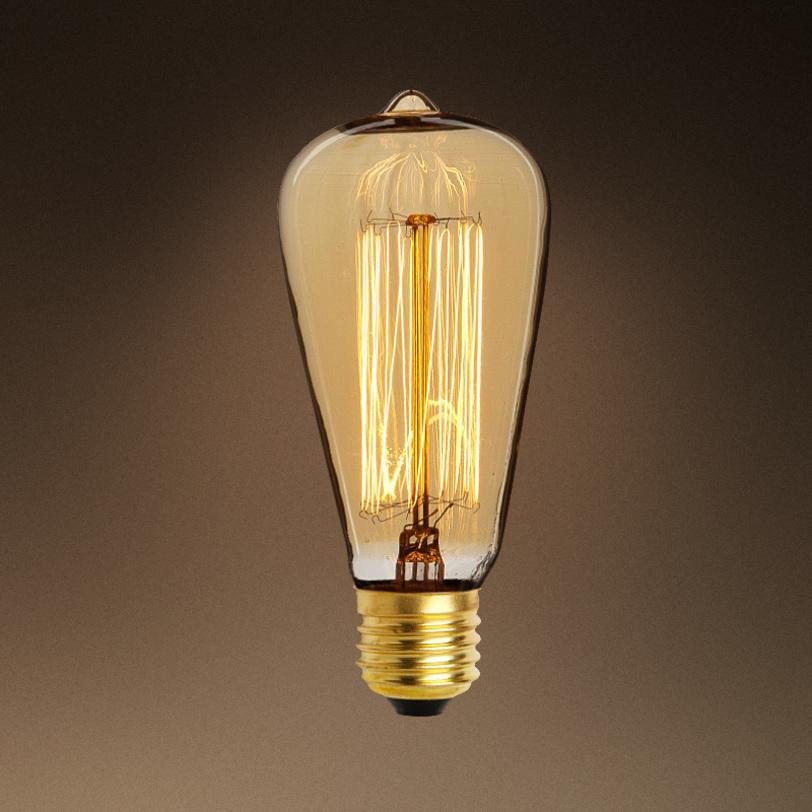 Лампочка Bulb SignatureЛампочки<br>Цвет цоколя - античное золото. Лампочка с приятным бежево-золотым свечением.<br>Мощность: 1x 40 Вт<br>Тип лампы: НАКАЛИВАНИЯ, E27&amp;lt;div&amp;gt;&amp;lt;span style=&amp;quot;line-height: 37.5374px;&amp;quot;&amp;gt;стоимость указана за 1 шт&amp;lt;/span&amp;gt;&amp;lt;br&amp;gt;&amp;lt;/div&amp;gt;<br><br>Material: Стекло<br>Length см: None<br>Width см: None<br>Depth см: None<br>Height см: 14<br>Diameter см: 6,4