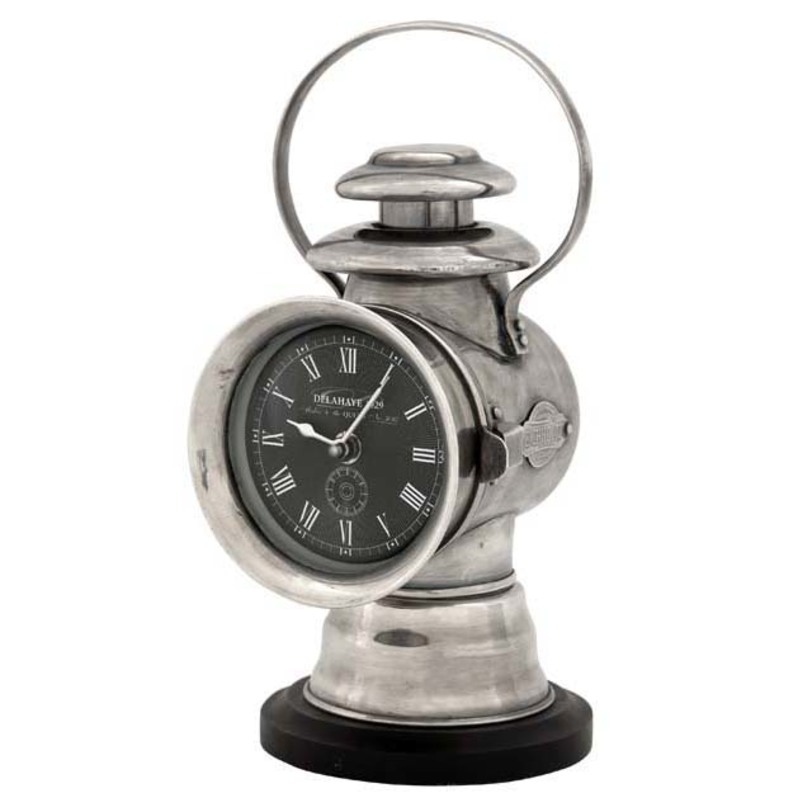 Часы Clock Delahaye 1929Настольные часы<br>Цвет металла - состаренное серебро.<br><br>Material: Металл<br>Length см: None<br>Width см: 13<br>Depth см: None<br>Height см: 27<br>Diameter см: None