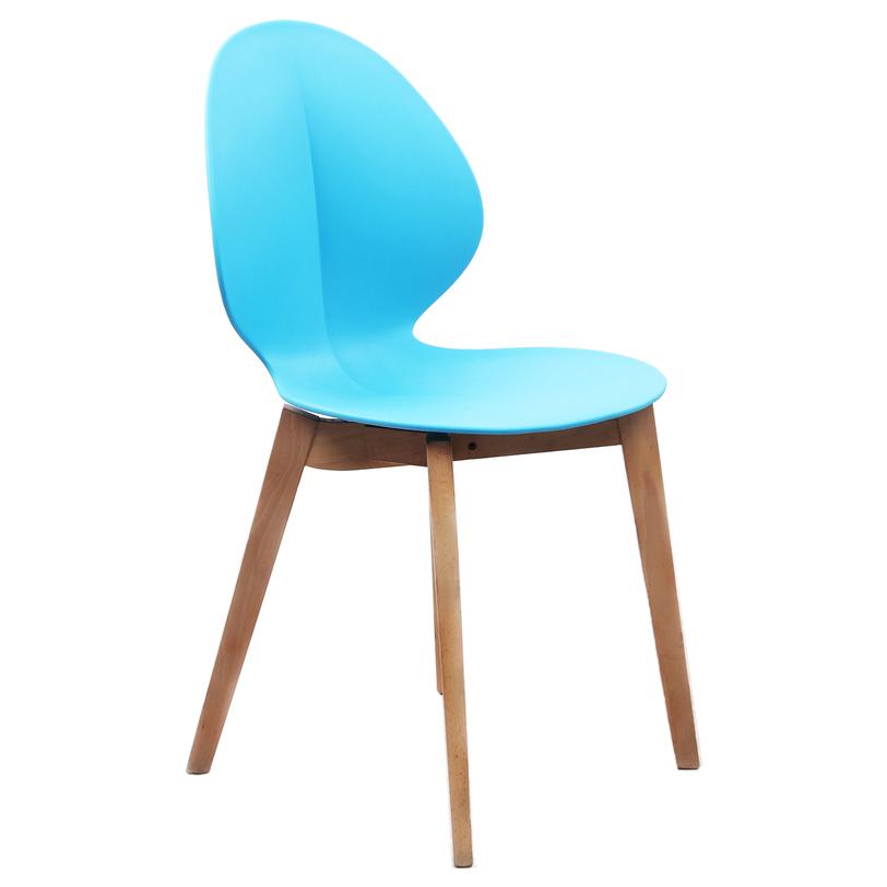 Стул ЛагунаОбеденные стулья<br>Изящный изгиб линий и насыщенный бирюзовый цвет сочетает в себе коллекция «Лагуна». Добавьте вашему дому насыщенные краски жаркого лета с помощью стильных современных стульев, которые станут красочным дополнением любого интерьера. Идеальны в сочетании с журнальным столиком «Лагуна».<br><br>Material: Пластик<br>Ширина см: 47<br>Высота см: 84<br>Глубина см: 43