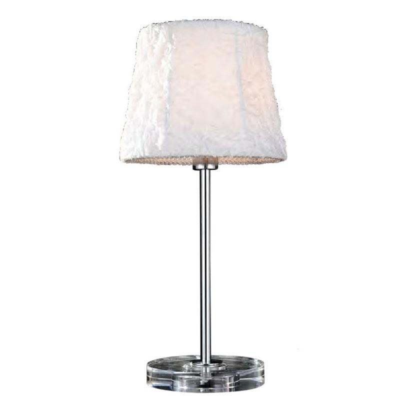 Настольная лампа LaminaДекоративные лампы<br>Настольная лампа из коллекции Lamina с хромированной арматурой.<br>Количество лампочек: 1<br>Мощность: 1x 40 Вт<br>Тип лампы: НАКАЛИВАНИЯ, Е14<br><br>Material: Текстиль<br>Length см: None<br>Width см: None<br>Depth см: None<br>Height см: 43<br>Diameter см: 20
