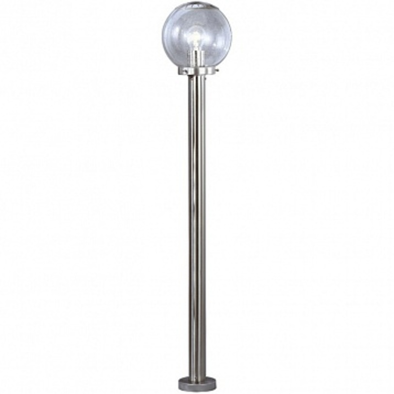 Светильник наземный Bowle IIУличные наземные светильники<br>Мощность: 60W<br>Количество патронов: 1<br>Патрон: E27<br>Напряжение: 230V<br>Материал: Метал, стекло<br><br>Material: Металл<br>Length см: None<br>Width см: None<br>Depth см: None<br>Height см: 110<br>Diameter см: 20
