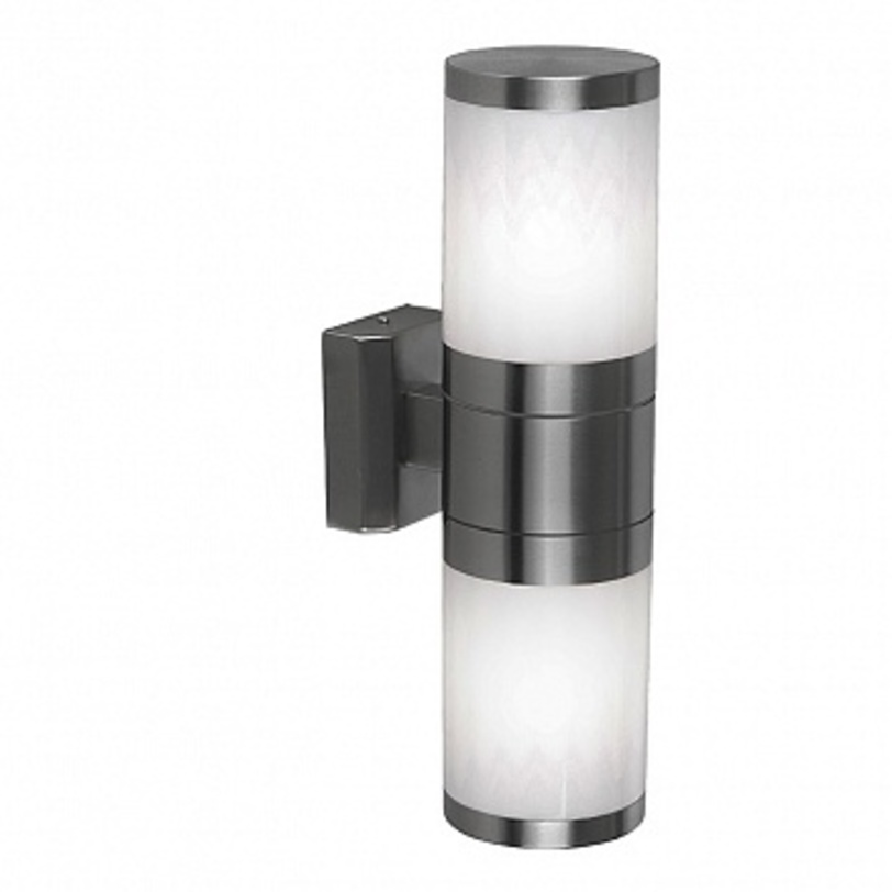 Светильник настенный XelooУличные настенные светильники<br>Мощность: 60W<br>Количество патронов: 2<br>Патрон: Е27<br>Напряжение: 230V<br>Материал: металл, пластик<br><br>Material: Металл<br>Высота см: 37.0