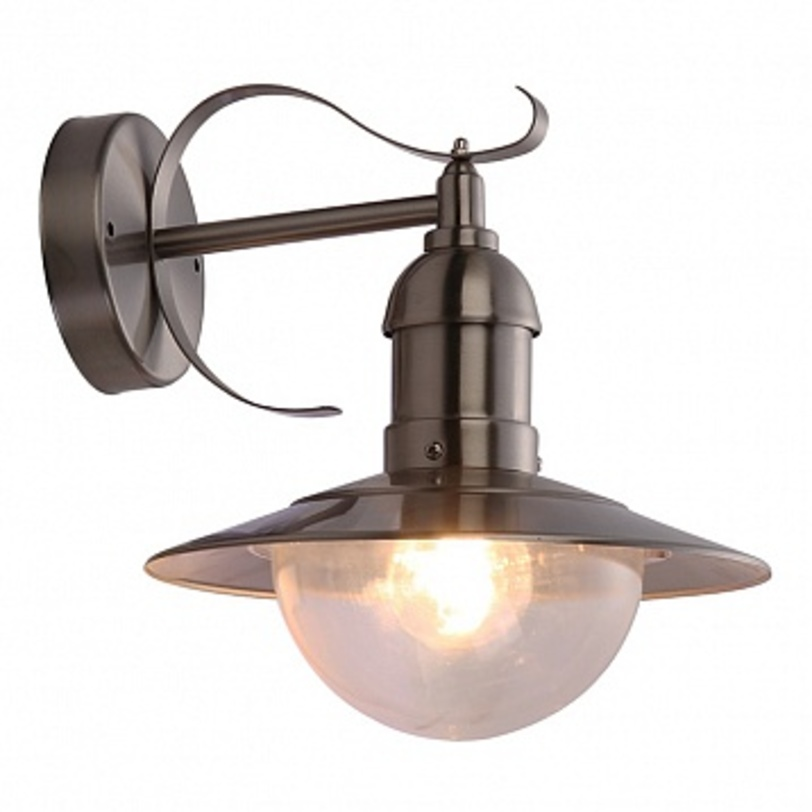 Светильник настенный MixedУличные настенные светильники<br>Мощность: 60W<br>Количество патронов: 1<br>Патрон: Е27<br>Напряжение: 230V<br>Материал: металл, стекло<br><br>Material: Металл<br>Length см: 28<br>Width см: 28<br>Depth см: None<br>Height см: 27<br>Diameter см: 24