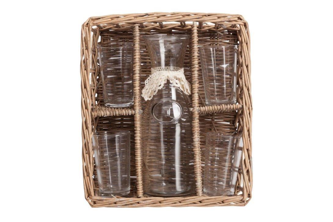 Набор для пикника PicnicНаборы для пикника<br>Набор для пикника в корзинке-очень удобная вещь. Корзинка предохранит от нечаянных ударов и выгодно дополнит сервировку пикника, является прекрасным подарком.<br>Материал: стекло, корзина- дерево (ива)<br><br>Material: Стекло<br>Length см: 33,5<br>Width см: 29,2<br>Depth см: None<br>Height см: 12,2<br>Diameter см: None