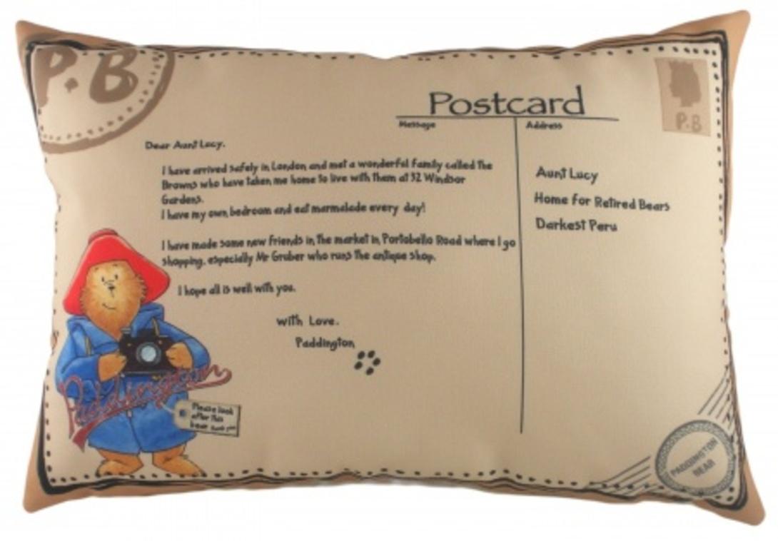 "Подушка с принтом ""Paddington Postcard"""