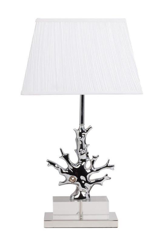 Настольная лампа Fabriano BlancДекоративные лампы<br>Настольная лампа Fabriano Blanc изготовлена на изящной платформе, корпус декорирован хрусталем и белым гофрированным тканевым абажуром. Лампа прекрасно дополнит любой интерьер и создаст особую приятную расслабляющую обстановку.<br>Материал: основание - сталь, абажур - ткань, хрусталь<br><br>Material: Сталь<br>Ширина см: 25<br>Высота см: 68