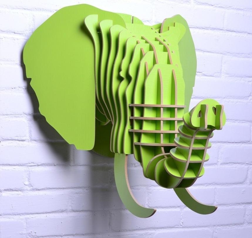 Предмет декора СлонФигуры<br>Декоративные головы животных на стену выполнены в скандинавском стиле, сочетают в себе естественную простоту и изысканность. Экологически безопасные, сделанные вручную, такие элементы декора смотрятся всегда необычно, и в тоже время очень стильно! Очень много разных цветов и вариантов покраски дают разгуляться воображению.<br><br>Material: МДФ<br>Length см: None<br>Width см: 37,7<br>Depth см: 42,6<br>Height см: 31,1<br>Diameter см: None