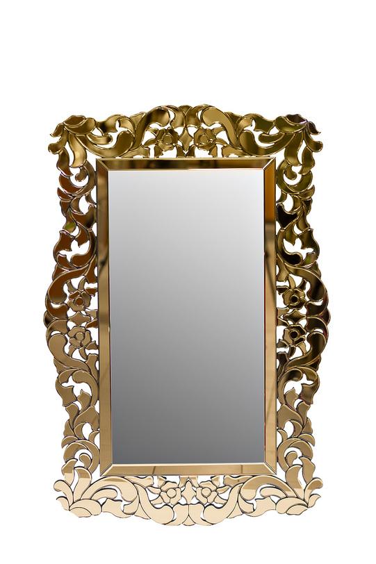ЗеркалоНастенные зеркала<br>Роскошь античных форм, совмещенная с эффектностью современного исполнения, делает это зеркало идеальным компаньоном для богатых интерьеров. Гламурный ар деко, чувственный барокко, величественный ренессанс или эпатажная эклектика ? такой декор гармонично будет смотреться всюду. Пышность классического французского орнамента заворожит игривостью своих чувственных пропорций. В их кокетливых завитках, выполненных из золотистых зеркал, вы увидите отражение истинного шика, которым невозможно не восхищаться.&amp;lt;div&amp;gt;&amp;lt;br&amp;gt;&amp;lt;/div&amp;gt;&amp;lt;div&amp;gt;Материал: стекло, МДФ.&amp;lt;br&amp;gt;&amp;lt;/div&amp;gt;<br><br>Material: Стекло<br>Length см: 120<br>Width см: 81,2<br>Depth см: None<br>Height см: None<br>Diameter см: None