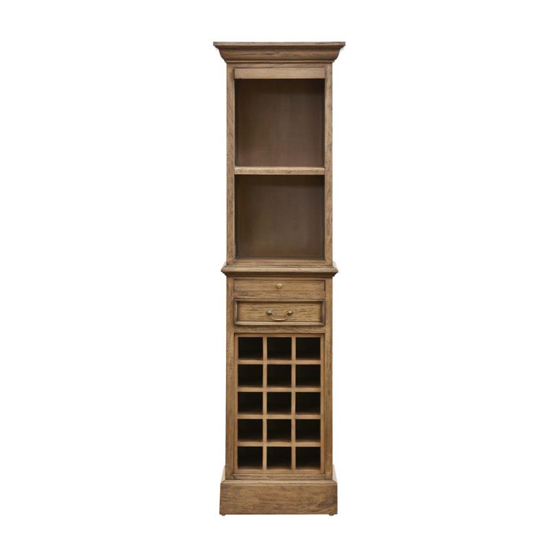 Шкаф Old Wine CabinetВинные шкафы<br>Шкаф Old Wine Cabinet выглядит так же, как и его предки на кухнях Франции XIX-XX веков. За одним небольшим исключением – этот чудесный предмет интерьера сделали современные мастера из известной студии Gramercy. В остальном же – полная историческая и стилевая идентичность. Для изготовления каркаса и фасадов шкафа используются лучшие сорта древесины, которые проходят обработку вручную.<br><br>Material: Красное дерево<br>Length см: 50<br>Width см: 40<br>Depth см: None<br>Height см: 180<br>Diameter см: None