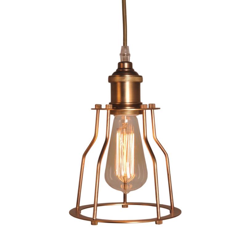 Светильник Metal Frame ChandelierПодвесные светильники<br>&amp;quot;Metal Frame Chandelier&amp;quot; ? винтажная лампа, чей облик покорит ценителей нестандартной красоты брутальных лофтовых пространств. Заключенная в &amp;quot;клетку&amp;quot; из железных бронзовых прутьев, она смотрится весьма интересно и элегантно благодаря плавным изгибам конструкции. Напоминающая об ушедших временах, эта лампа понравится романтикам и мечтателям.&amp;lt;div&amp;gt;&amp;lt;br&amp;gt;&amp;lt;/div&amp;gt;&amp;lt;div&amp;gt;&amp;lt;div&amp;gt;Количество лампочек: 1&amp;lt;/div&amp;gt;&amp;lt;div&amp;gt;Мощность: 1 x 60 Вт&amp;lt;/div&amp;gt;&amp;lt;div&amp;gt;Тип цоколя: E27&amp;lt;/div&amp;gt;&amp;lt;/div&amp;gt;<br><br>Material: Металл<br>Высота см: 29
