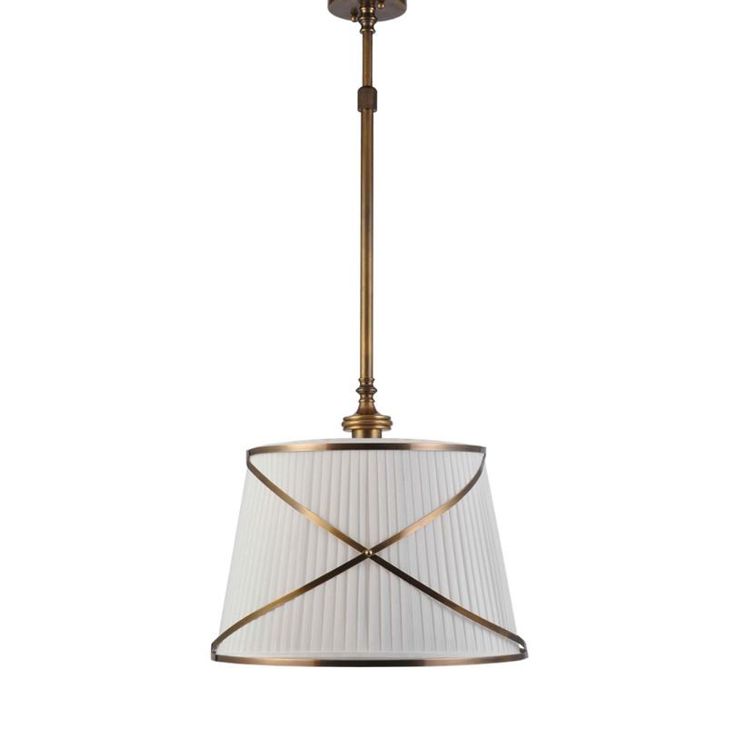 Люстра Martime Single ChandelierЛюстры на штанге<br>&amp;quot;Martime Single Chandelier&amp;quot; ? стильная, лаконично оформленная люстра, великолепие которой заключается в ее элегантности. Имеющая классическую конструкцию, она изготовлена из благородного бронзового металла. Белый абажур украшен двумя перекрещенными кольцами, придающими декору в американском стиле особую изысканность. Возможность регулировки люстры по высоте добавляет ей функциональность.&amp;lt;div&amp;gt;&amp;lt;br&amp;gt;&amp;lt;/div&amp;gt;&amp;lt;div&amp;gt;&amp;lt;div&amp;gt;Количество лампочек: 1&amp;lt;/div&amp;gt;&amp;lt;div&amp;gt;Мощность: 1 x 60 Вт&amp;lt;/div&amp;gt;&amp;lt;div&amp;gt;Тип цоколя: E27&amp;lt;/div&amp;gt;&amp;lt;div&amp;gt;&amp;lt;br&amp;gt;&amp;lt;/div&amp;gt;&amp;lt;div&amp;gt;&amp;lt;br&amp;gt;&amp;lt;/div&amp;gt;&amp;lt;/div&amp;gt;<br><br>Material: Железо<br>Length см: None<br>Width см: None<br>Depth см: None<br>Height см: 140<br>Diameter см: 45