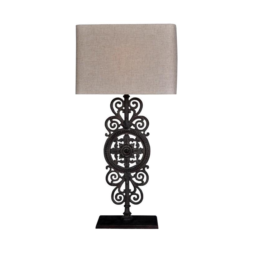 Лампа Victoria Table LampДекоративные лампы<br>Ценители мистических символов будут очарованы необычной лампой&amp;amp;nbsp;&amp;quot;Victoria Table Lamp&amp;quot;. Ее черный каркас, украшенный загадочным узором из витиеватых сплетений металлических прутьев, покорит своей изысканностью. Благодаря ему лампа будет прекрасно будет гармонировать с нестандартными этническими интерьерами, привнося в них еще больше завораживающей таинственности.&amp;amp;nbsp;&amp;lt;div&amp;gt;&amp;lt;br&amp;gt;&amp;lt;/div&amp;gt;&amp;lt;div&amp;gt;&amp;lt;div&amp;gt;&amp;lt;span style=&amp;quot;line-height: 1.78571429;&amp;quot;&amp;gt;Количество лампочек: 1&amp;lt;/span&amp;gt;&amp;lt;/div&amp;gt;&amp;lt;div&amp;gt;&amp;lt;span style=&amp;quot;line-height: 1.78571429;&amp;quot;&amp;gt;Мощность: 60 Вт&amp;lt;/span&amp;gt;&amp;lt;/div&amp;gt;&amp;lt;div&amp;gt;&amp;lt;span style=&amp;quot;line-height: 1.78571429;&amp;quot;&amp;gt;Тип цоколя: E27&amp;lt;/span&amp;gt;&amp;lt;/div&amp;gt;&amp;lt;/div&amp;gt;<br><br>Material: Металл<br>Length см: 43<br>Width см: 23<br>Depth см: None<br>Height см: 97<br>Diameter см: None