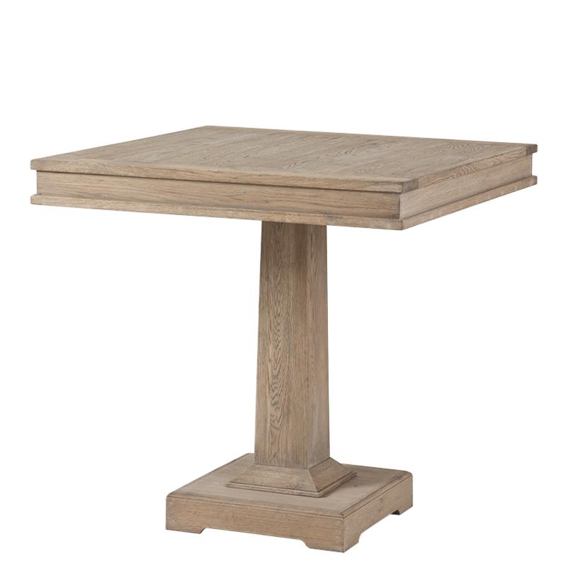 Стол Dining LincolnОбеденные столы<br>Деревянный стол из состаренного дуба. Цвет: светло-коричневый.<br><br>Material: Дуб<br>Length см: None<br>Width см: 80<br>Depth см: 80<br>Height см: 78<br>Diameter см: None