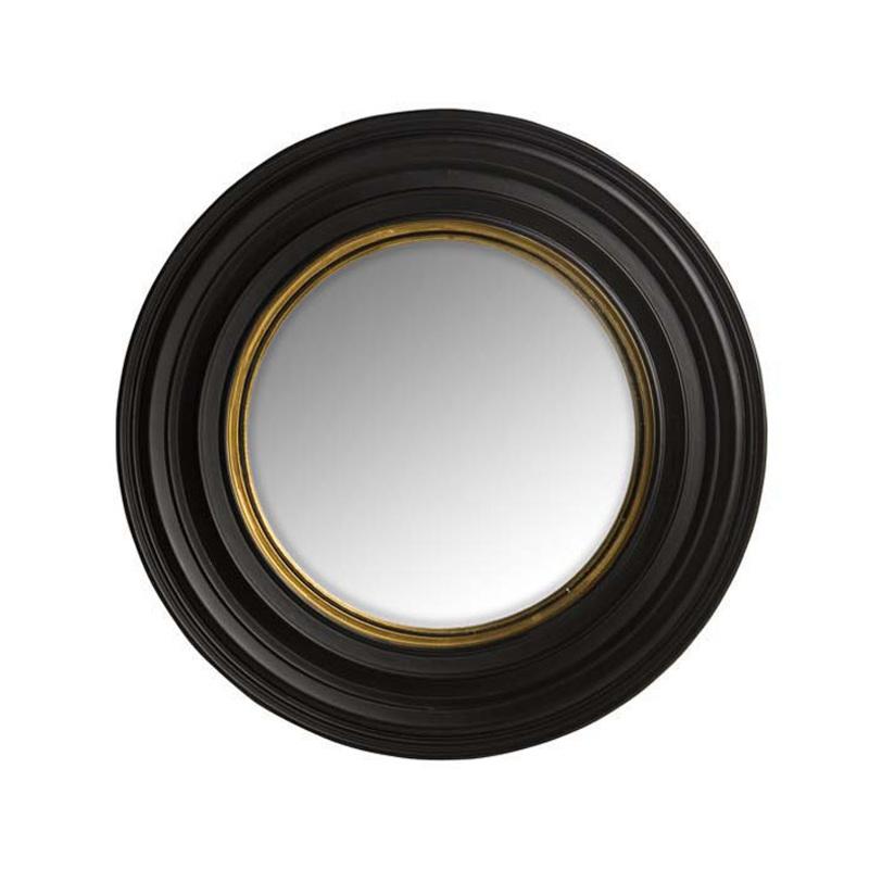 Зеркало Cuba smallНастенные зеркала<br>Дизайн этого зеркала ? настоящее торжество гламура и элегантности. Благодаря объемной выпуклой форме оно напоминает иллюминатор. Оформленный в мрачной черной палитре, декор выглядит таинственно. Кажется, что в отражении можно узреть безумные идеи талантливого английского архитектора, у которого оно висело в мастерской... Теперь в этот классический дизайн вы можете вдохнуть свое понимание роскоши. С каплей винтажного шарма она обретет больше очарования.&amp;lt;div&amp;gt;&amp;lt;br&amp;gt;&amp;lt;/div&amp;gt;&amp;lt;div&amp;gt;Зеркало в металлической раме.&amp;lt;/div&amp;gt;<br><br>Material: Металл<br>Length см: None<br>Width см: None<br>Depth см: 5,5<br>Height см: None<br>Diameter см: 53