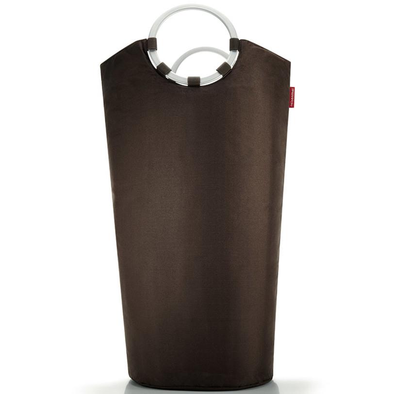 Корзина для белья Looplaundry mochaКорзины<br>Корзина и сумка в одном: стиль соединяется с функциональностью. Всё, от носков до постельных принадлежностей, легко помещается в эту симпатичную корзину. Прочная алюминиевая рама держит форму, а уплотненное дно придает стабильности. Две удобные алюминиевые ручки для переноски. Объем – 60 литров.<br><br>Material: Текстиль<br>Length см: 60<br>Width см: 40<br>Depth см: None<br>Height см: 72<br>Diameter см: None