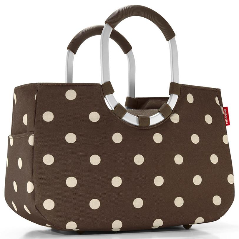 Сумка Loopshopper m mocha dotsСумки<br>Элегантная шоппинг-сумка, которая выручит как в походе за продуктами, так и при сборах на дачу или на пикник. Ручки из прочного алюминия со специальным тканевым покрятием, можно носить в руках или на плече. Внутри - карман, застегивающийся на молнию. Плюс два кармана снаружи, по бокам сумки. Так же есть съемная внутренняя сумочка с тремя отделениями (размер 23 х 28 х 8 см).<br>Внутренний объем - 12 литров.<br><br>Material: Текстиль<br>Length см: 40<br>Width см: 20<br>Depth см: None<br>Height см: 26<br>Diameter см: None