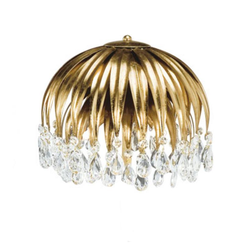 Подвесной светильникПодвесные светильники<br>&amp;lt;div&amp;gt;Подвесной светильник из металла золотого цвета. Светильник выполнен в виде цветка с ниспадающими лепестками. Хрустальные прозрачные подвески на конце лепестков. Высоту светильника можно регулировать. Дизайн: Karen Lenz.&amp;lt;/div&amp;gt;&amp;lt;div&amp;gt;&amp;lt;br&amp;gt;&amp;lt;/div&amp;gt;&amp;lt;div&amp;gt;Количество лампочек: 6&amp;lt;/div&amp;gt;&amp;lt;div&amp;gt;Мощность: 6 x 42 Вт&amp;lt;/div&amp;gt;&amp;lt;div&amp;gt;Цоколь: E14&amp;lt;/div&amp;gt;<br><br>Material: Металл<br>Length см: None<br>Width см: None<br>Depth см: None<br>Height см: 55<br>Diameter см: 60